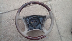 00 06 Mercedes Benz S Class Wood Leather Steering Wheel Brown 220 460 05 03