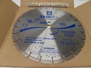 Abrasive Segmented Concrete Masonry Diamond Blade Partner Saw 14 X 120 X 1