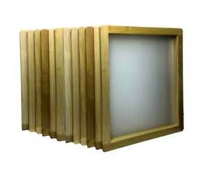 12 pack Wood Screen Printing Frames 20 x24 With 158 White Mesh New