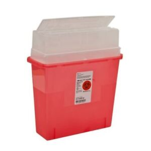 Box Of 6 Sharps Container Biohazard Needle Disposal 5 Quart Size Part 31144010
