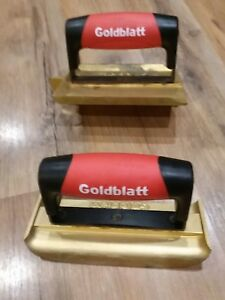 Lot Of 2 Goldblatt Bronze 1 6 In X 4 3 8 Concrete Groover And 1 6x2 3 4 Edger
