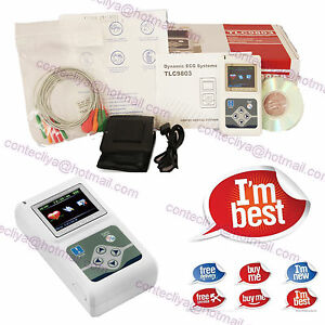 Dynamic Ecg System 12 Lead Contec 3 Channels Holter Ecg Machine 24hours Recorder