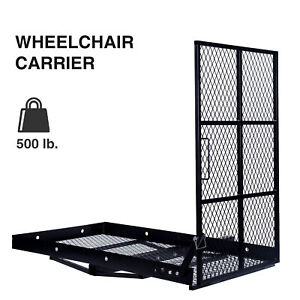 Foldable Moblity Wheelchair Hitch Carrier Steel Construction W loading Ramp
