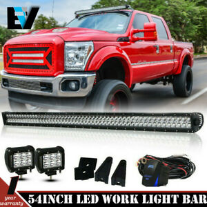 For Jeep Wrangler Jk 52 Led Light Bar wiring Harness 2x 3 Light Pods Kit