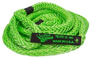 Voodoo 1300002 Nylon Kinetic 30 Recovery Rope For 3 4 Ton And 1 Ton Trucks