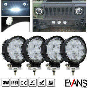 4x 4inch 18w Flood Led Work Light Fog Reverse Cube Pods Offroad Truck Suv Atv