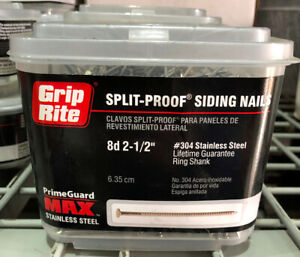 5 Pounds 8d 2 1 2 Stainless Steel Siding Nail 304 Grip Rite