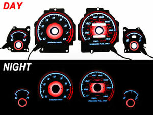 Red Glow 90 93 Acura Integra Ls Gs Rs Gauge Face Overlay Free Ship