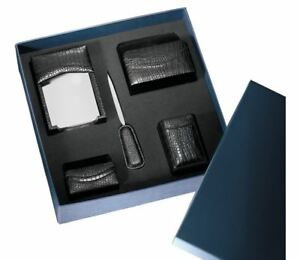 new Leather Desk Set 5pc Croco