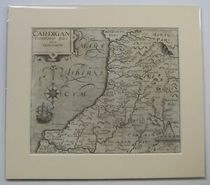 Cardiganshire Antique Map By Saxton Kip 1607 1st Edition