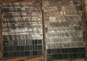 Vintage Elegant 48pt Grayda Lg Set Letterpress Foundry Type Printing Antique 2