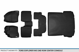 2015 2016 Ford Explorer W o 2nd Console Black Floor Mats 1st 2nd 3rd cargo Liner