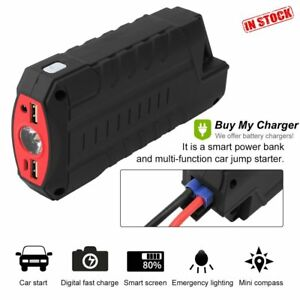 82800mah Car Jump Start Portable Charger Booster Power Bank Battery Led Torch Pm