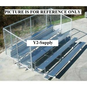 New 4 Row National Rep Aluminum Bleacher With Guard Rail 21 Wide
