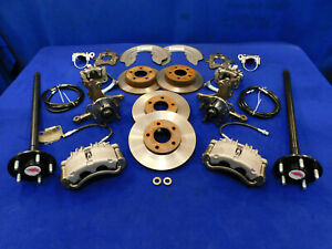 Oe Mustang 5 Lug Front Rear Disc Brake Conversion Kit For 79 89 90 91 92 93