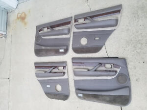 91 98 Lexus Lx450 Front Rear Interior Door Trim Panel Set Used Oem Leather Wood