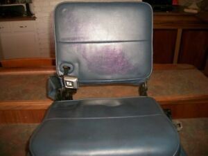 1983 92 Ford Ranger Extracab Driver Side Jump Seat Blue With Belts And Hardware
