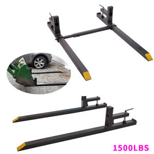 1500lb Clamp On Pallet Bucket Forks Loaders Tractor Chain Stabilizer Bar