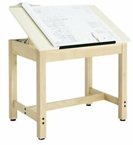 Diversified Woodcrafts Dt 9a30 Uv Finish Solid Maple Wood Art drafting Table