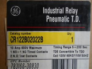 Ge Time Delay Relay Cr122b02022b Series A W Pneumatic Timer Range 5 200 Second