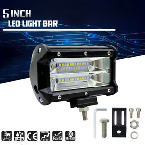 5 72w Spot Led Light Work Bar Lamp Driving Fog Offroad Suv 4wd Car Boat Truck