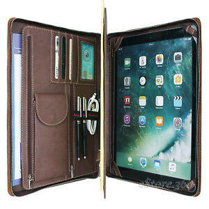 Crazy Horse Leather Padfolio Portfolio Handmade Case Organizer Pad Card Holder