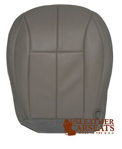 2002 Jeep Grand Cherokee Driver Side Bottom Synthetic Leather Seat Cover Gray