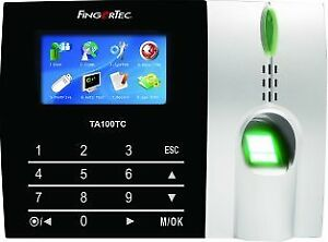 Fingertec Time Attendance Fingerprint Color Touch Button Time Clock