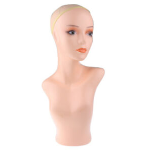 Female Mannequin Head Shoulder Wig Hat Earrings Necklace Scalf Display Stand