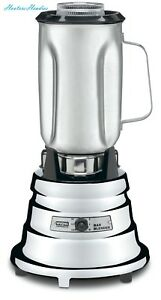 Waring Commercial Bb900s 1 2 Hp Chrome Bar Blender With 32 ounce Stainless Steel