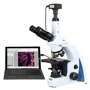 Omax 40x 3000x 18mp Usb3 Quintuple Infinity Plan Darkfield Led Kohler Microscope