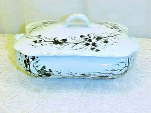 Tumstall England Brown Transferware Covered Serving Dish Pristine