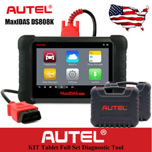 Obd2 Car Diagnostic Autel Maxidas Ds808k Code Reader Scanner Fault Than Ds708 Us