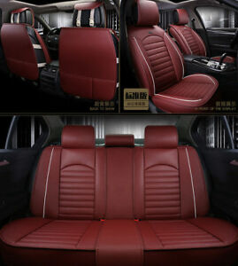 Car Seat Cover Cushions Fits Mazda 3 6 Mazda All Car Leather Airbag Safe Red