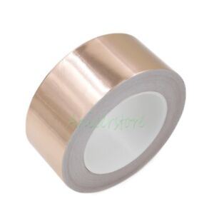 50mm X 50m 164 Feet Emi Shielding Single Conductive Adhesive Copper Foil Tape