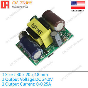 Ac dc 24v 0 25a 5w Power Supply Buck Converter Step Down Module High Quality Us