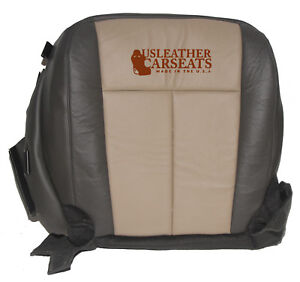 2007 Expedition Eddie Bauer Driver Bottom Leather Vinyl Seat Cover Two Tone Tan