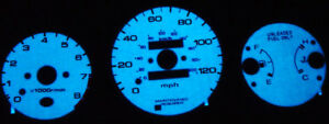96 00 Honda Civic Mt With Tach Blue Green Glow Gauge Face Overlay New