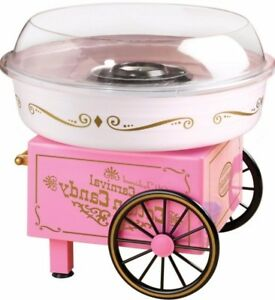 Hard Candies Sugar free Cotton Candy Maker In Pink Tabletop Small Appliance