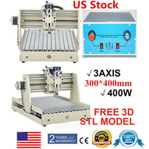 Usb 3040 400w Cnc Router Engraver 3 Axis 3d Engraving Drilling Milling Machine