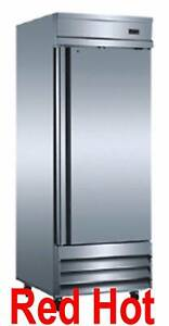 Omcan 24259 Re cn 0021 Stainless Steel Reach in Cooler Refrigerator 20 6 Cu Ft