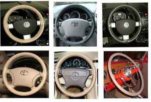 Lincoln Leather Steering Wheel Cover Wheelskins Custom Fit You Pick The Color