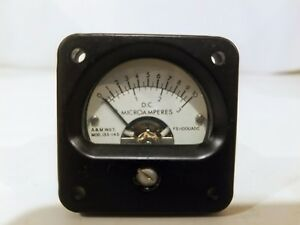 A m Jewell Instruments Ammeter P n 135 145 0 10 Sm c 800837 1 D c Microamperes