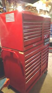 Vintage Craftsman Industrial Rolling Toolbox chest 46 Wide 24 Inches Deep Usa