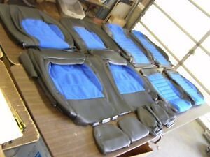 Nos Oem Shelby Mustang 2015 2016 2017 Seat Cover Set Leather W Blue Suede Ford