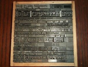 Lot Of 21 Assorted Foundry Type Proof Line Samples Letterpress Printing Antique