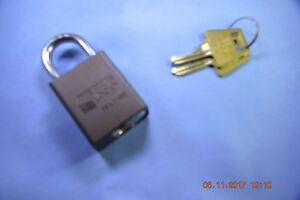 American Lock 1105dbrn Series Padlock Solid Alum Body 1 4 Hardened Shackle Ka