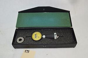 Fowler Internal Dial Chamfer Gage Gauge 0 90 Deg With Setting Ring In Case