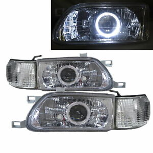 Tercel L50 1995 1999 Ccfl Projector Headlight Headlamp Chrome For Toyota Lhd