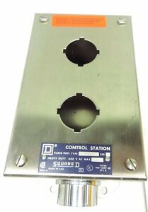 Square D Class 9001 Kyss 2 Operator Station Enclosure Stainless Steel